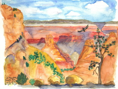 grand canyon nature painting