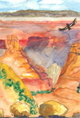 Karen Rackliffe's travel journal painting of Grand Canyon.